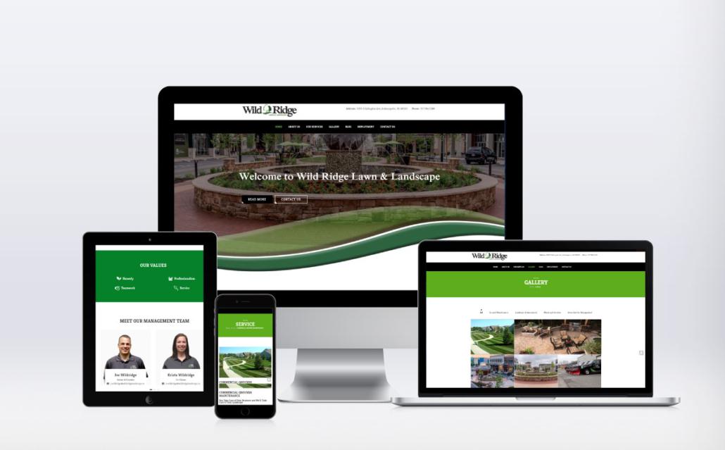 Wild Ridge Lawn & Landscape website on devices