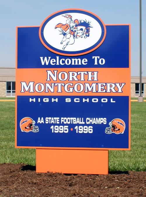 North Montgomery Exterior sign