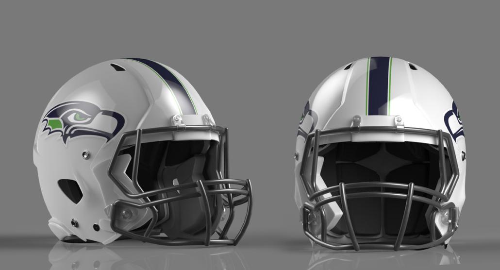 Helmet rendered