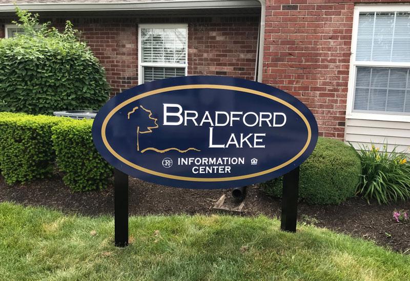 Bradford Lake Exterior Sign