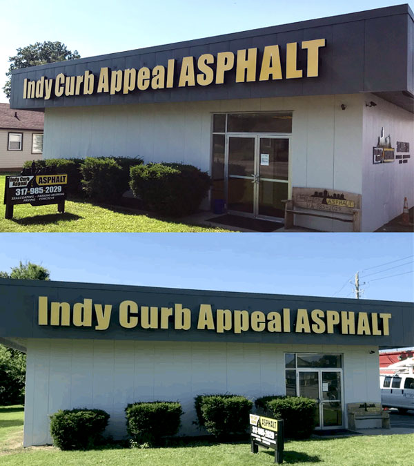 Indy Curb Appeal Asphalt Outdoor Sign