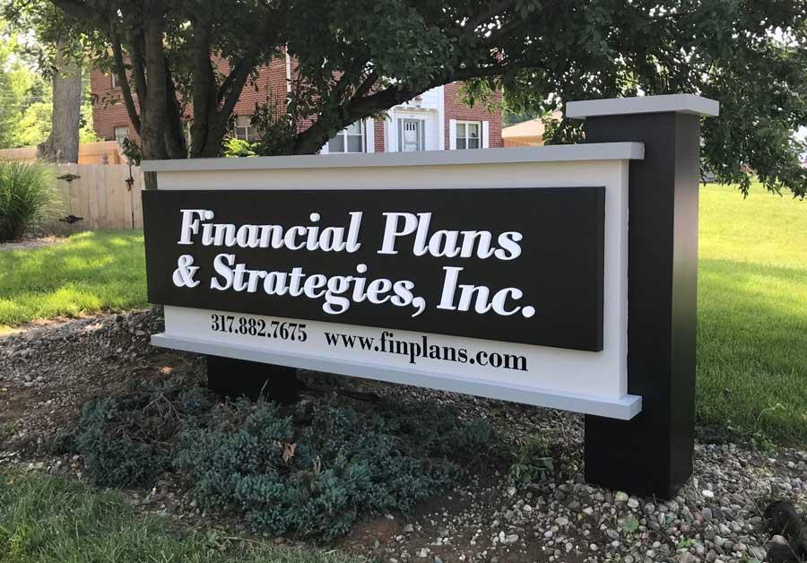 Financial Plans & Strategies Exterior Sign
