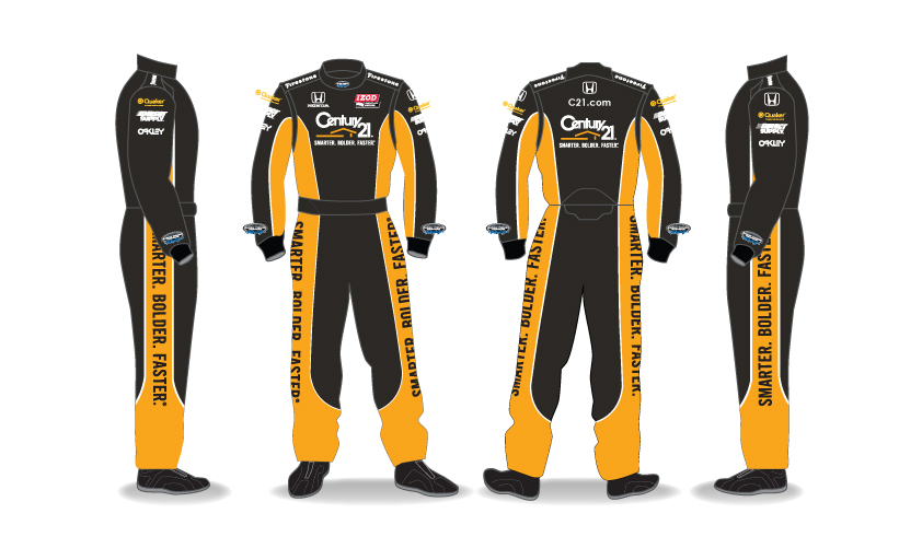Century 21 Yellow and Black Fire Suit