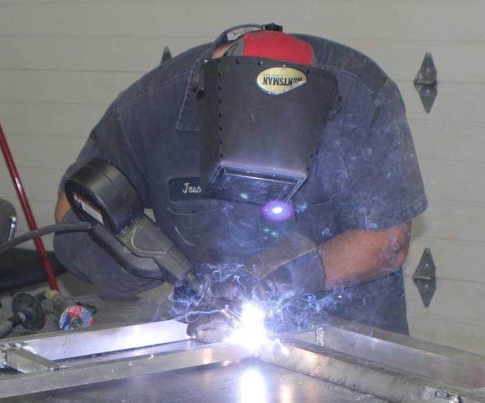 Employee welding