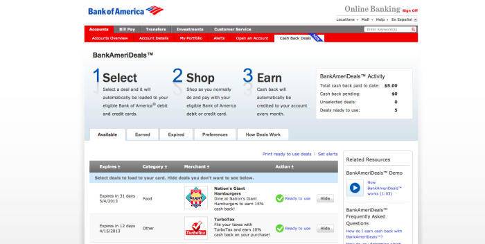 Bank of America Use case