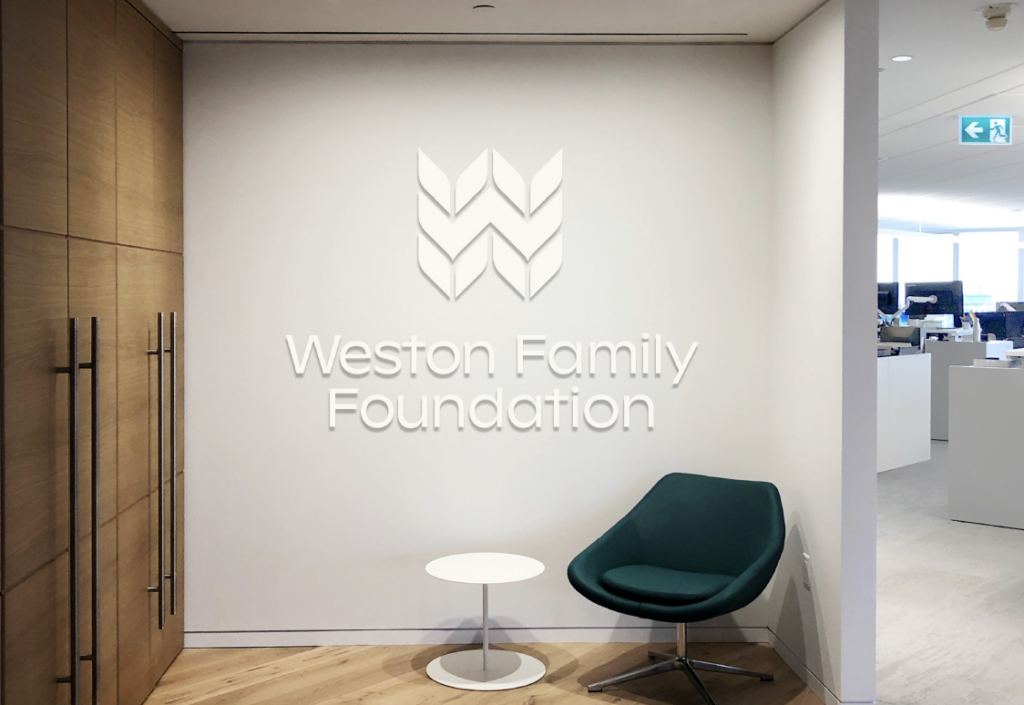 The entrance way to the Weston Family Foundation