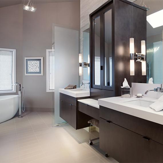 Kitchen Studio:KC - Leawood Contemporary Master Bath