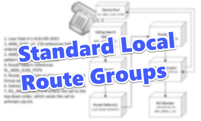 Simplify new branch configurations using the Standard Local Route Group