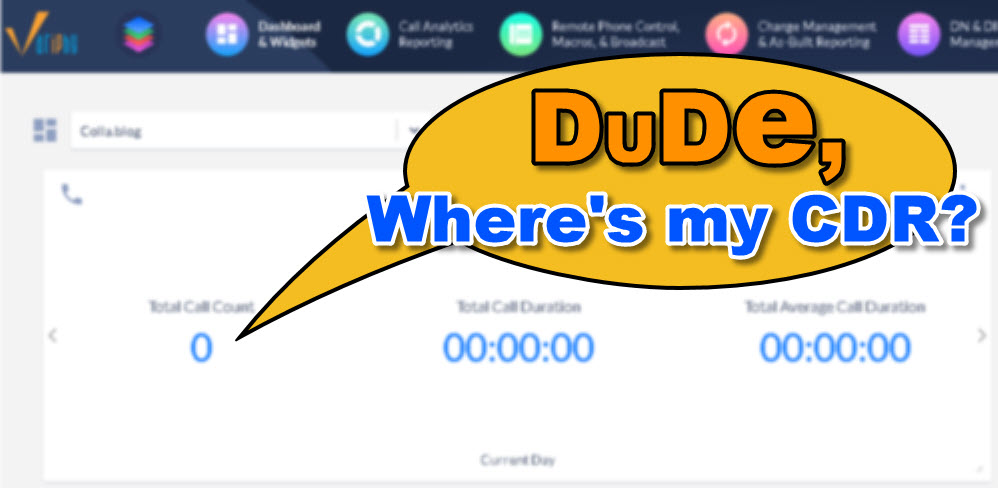 You are currently viewing Dude, Where's my CDR?