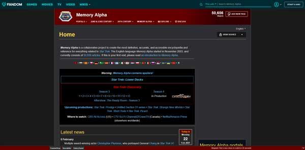 Memory Alpha Website