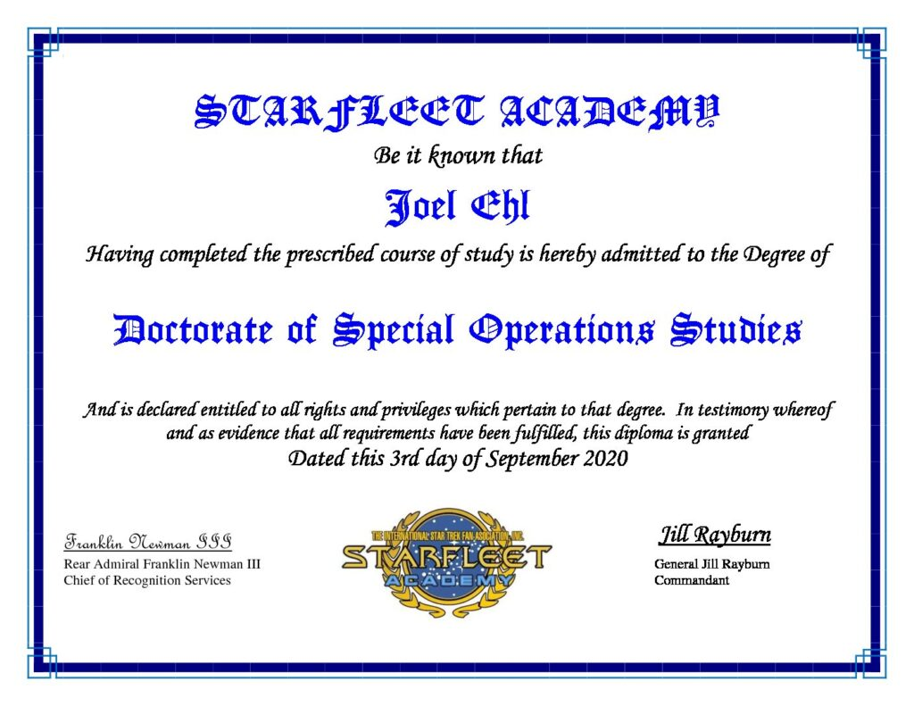 Doctorate of Special Operations Studies