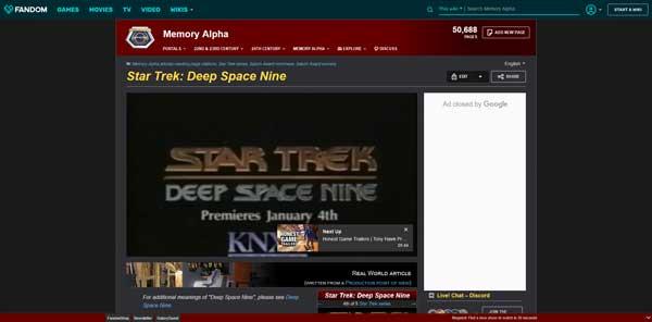 Star Trek: Deep Space Nine Memory Alpha Wiki Fandom