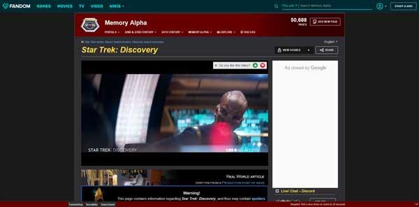 Star Trek : Discovery Memory Alpha Wiki Fandom
