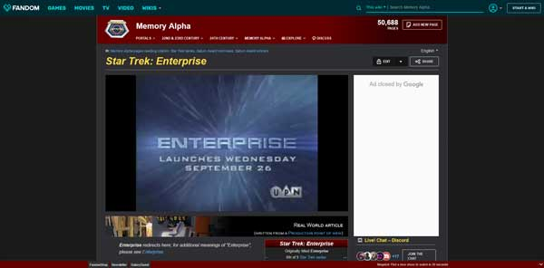 Star Trek: Enterprise Memory Alpha Wiki Fandom