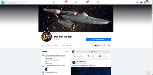 Star Trek Fandom – Facebook