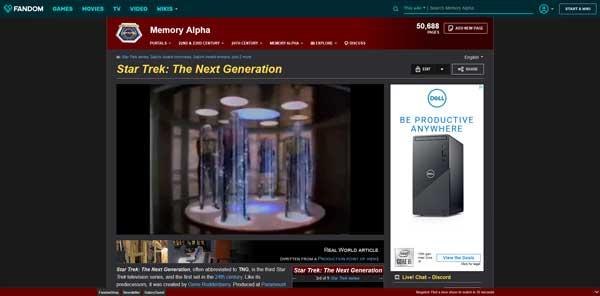 Star Trek T- The Next Generation Series Memory Alpha Wiki Fandom