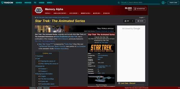 Star Trek: The Animated Series Memory Alpha Wiki Fandom