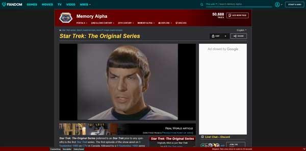 Star Trek The Original Series Memory Alpha Wiki Fandom