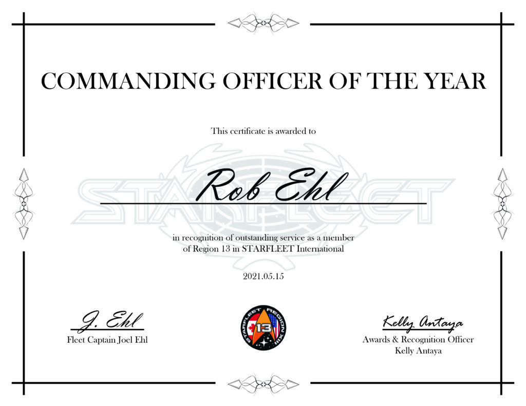 Commanding Officer of the Year Rob Ehl - Region 13