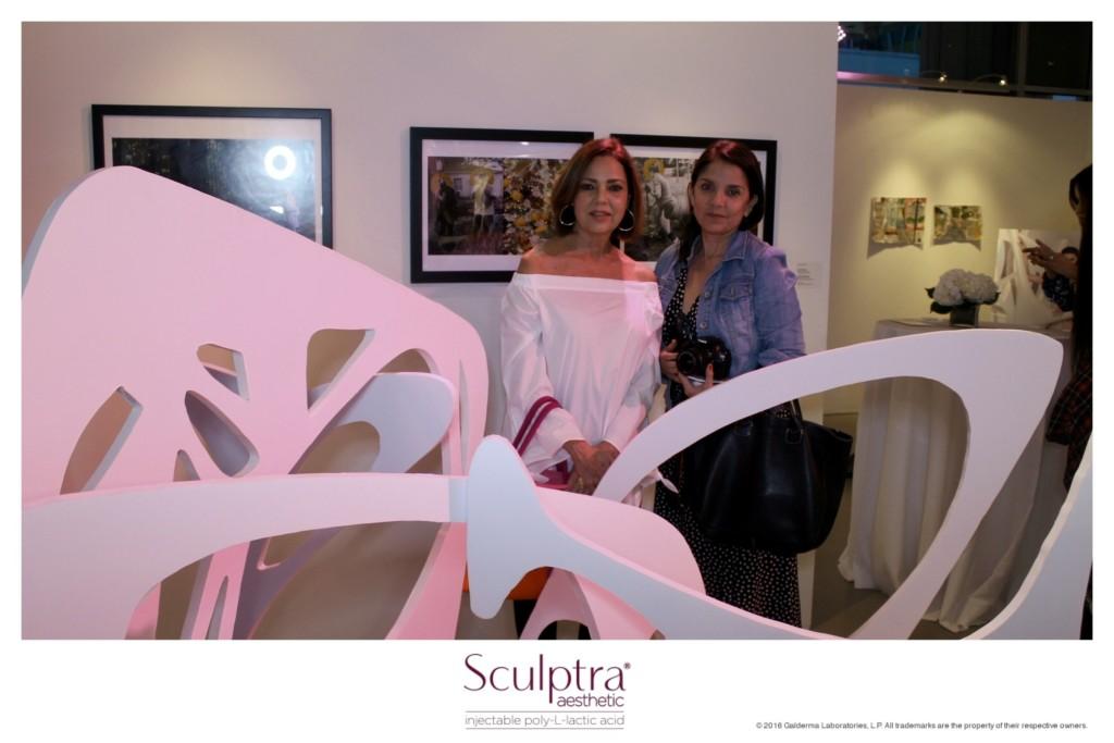 Mi amiga Enriqueta y yo en la presentación de Sculptra Aesthetics en el Young Arts Miami