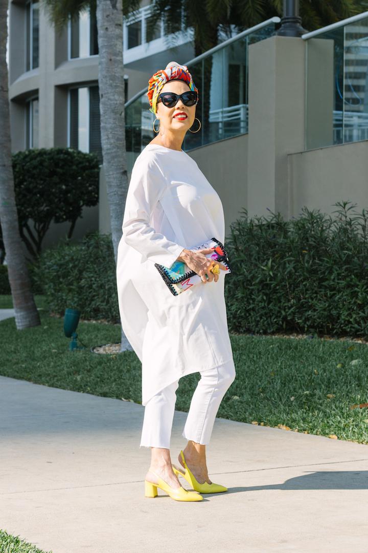 Powerful A White Tunic + Colorful Turban