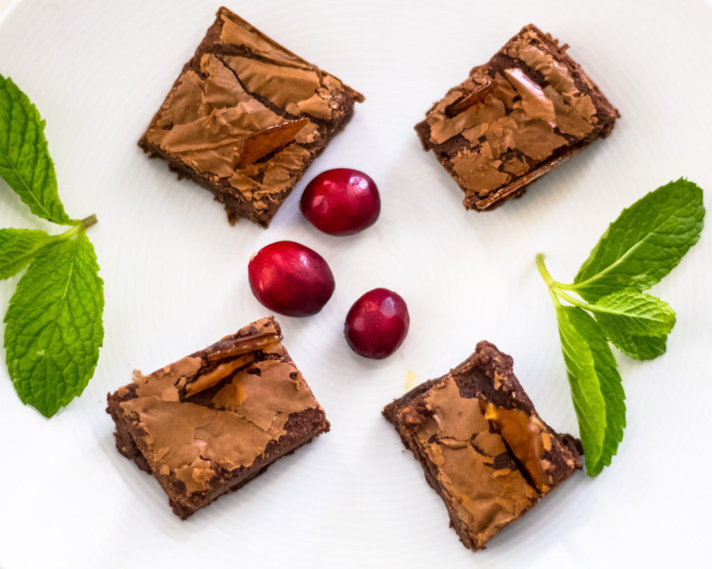 These decadent nocciolata brownies are extremely easy to make!