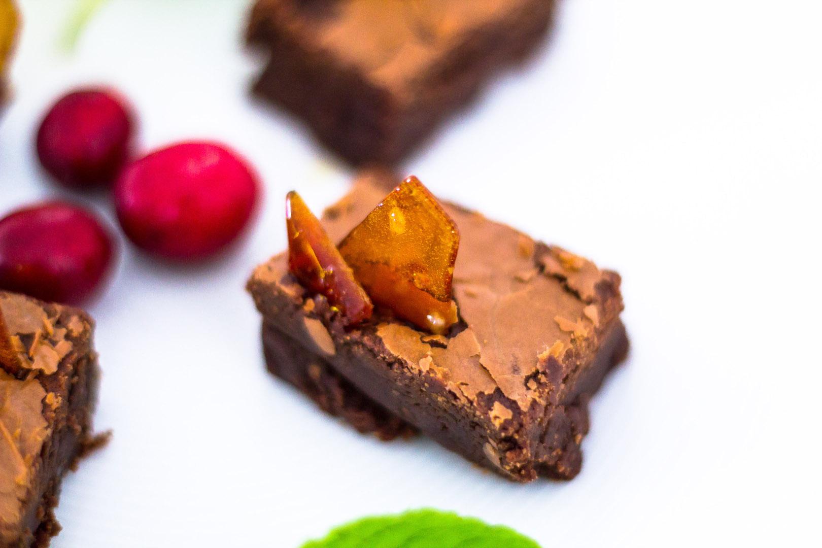 Nocciolata Brownies Caramel & Himalayan Pink Salt