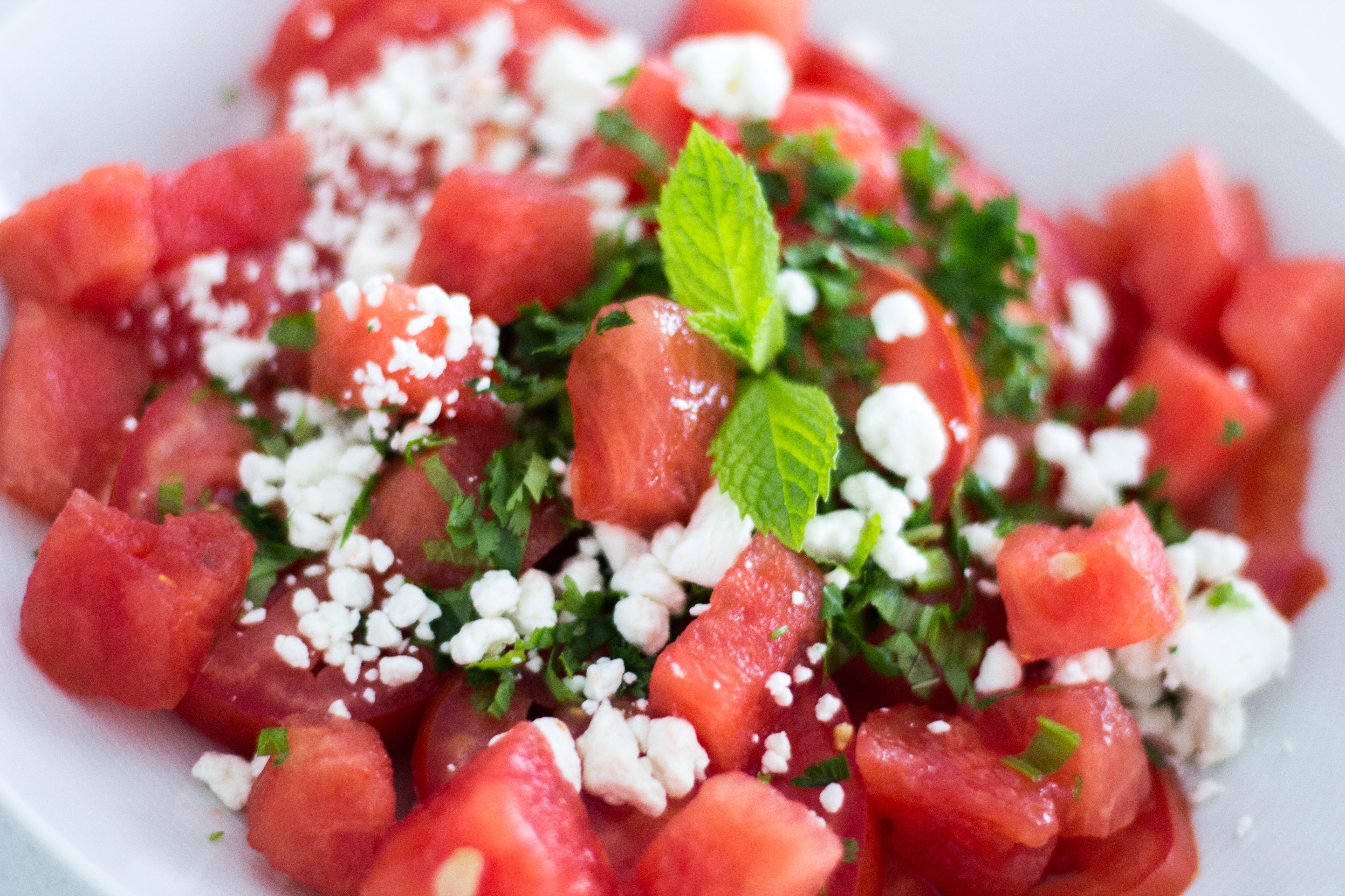 Refreshing Watermelon Tomato Salad Recipe