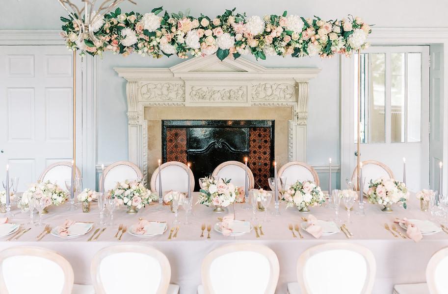 Willow at Morden Hall, historic wedding venue in London, set for an intimate wedding reception, Georgina Alexander Weddings Luxury Surrey Wedding Planner UK