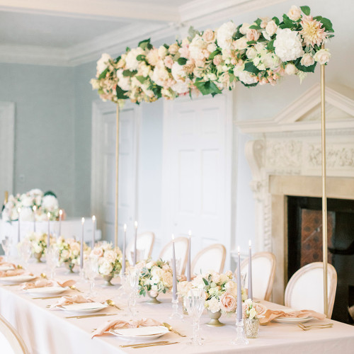 Wedding reception set up at Morden Hall