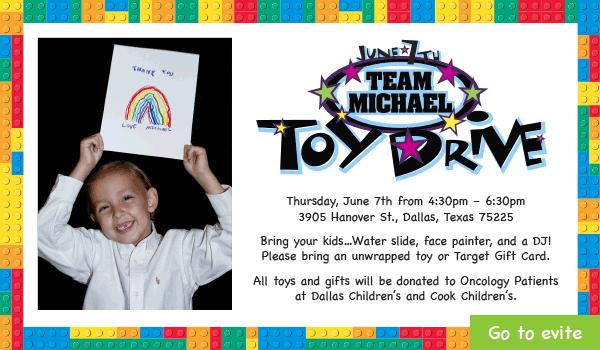 6th Annual Team Michael Toy Drive June 7 2018 E