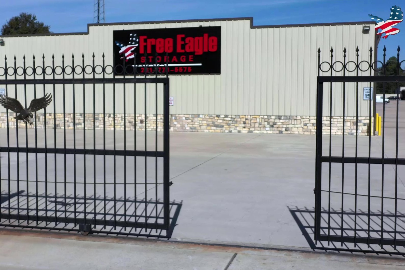 Free Eagle Storage gated entrance