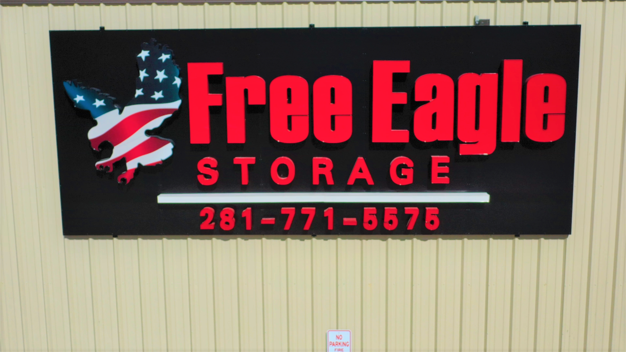Free Eagle Storage sign