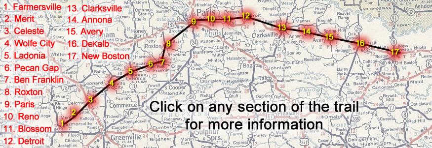 Clickable Trail Map