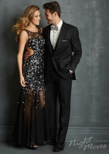 Night Moves Prom 2014 Style 7096 Size 2 Black