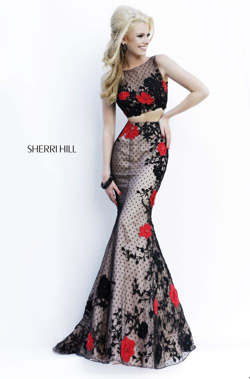 sherri hill lace gown
