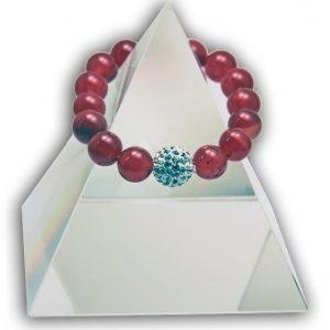 134 New Product - EMF Harmonizing Bracelet Tourmaline Red - Quantum EMF Protectors