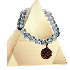 144 New Product - EMF Harmonizing Jewelry Light Blue Quartz Bracelet - Quantum EMF Protectors