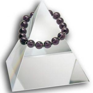 147 New Product - EMF Harmonizing Jewelry Smokey Quartz Globe Purple - Quantum EMF Protectors