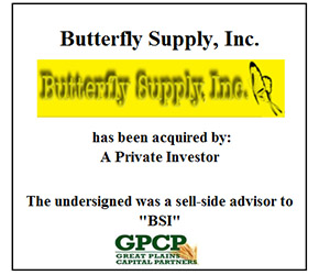BUTTERFLY SUPPLY, INC.