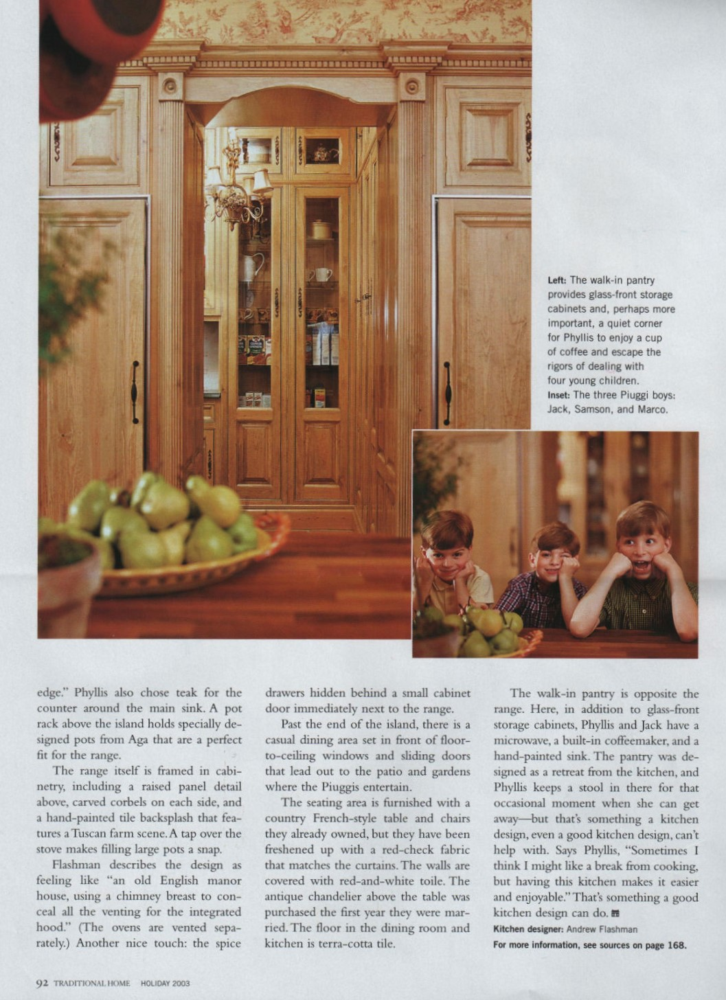 Traditional Home Butlers Pantry