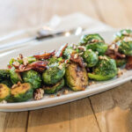 brussel sprouts roasted bacon pecans