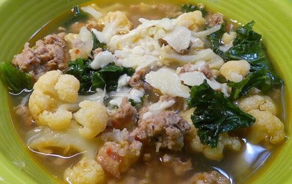 Low Carb Italian Sausage Kale Soup Instant Pot