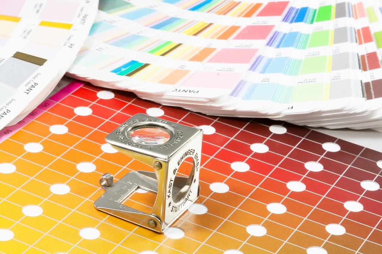 color fan, pantone, printing inks