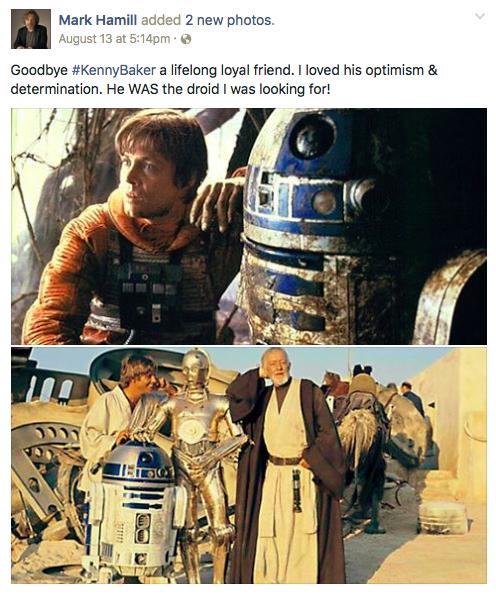 Kenny Baker Dies R2-D2 Star Wars Mark Hamill MovieSpoon.com