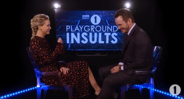 Jennifer Lawrence Chris Pratt Playground Insults MovieSpoon.com
