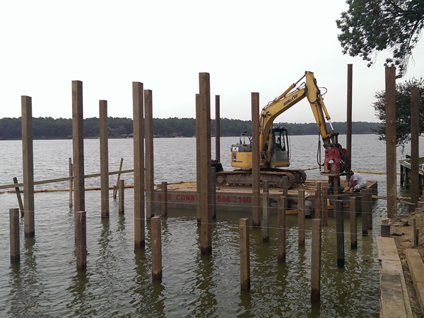 Pile Driving on Lake Cypress Springs
