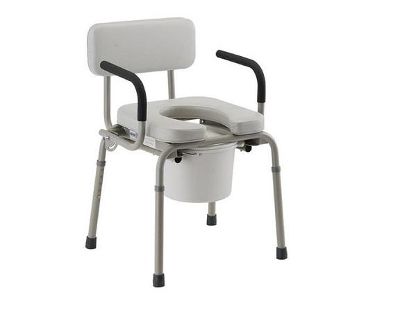 Nova Padded Drop Arm Commode Chair