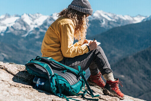 Escape to mountains with only one backpack