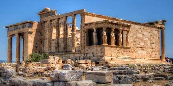 The Erectheion on top of the Acropolis